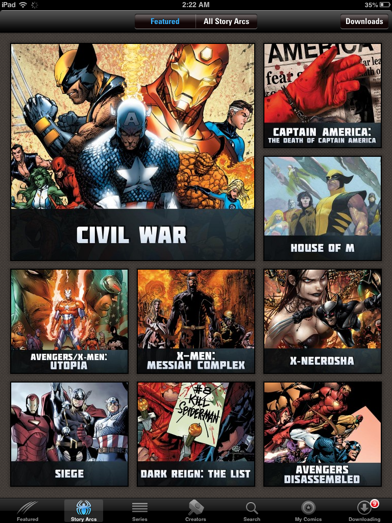 Marvel App Review, from a 13 part series on iPad apps by GagenGirls.com