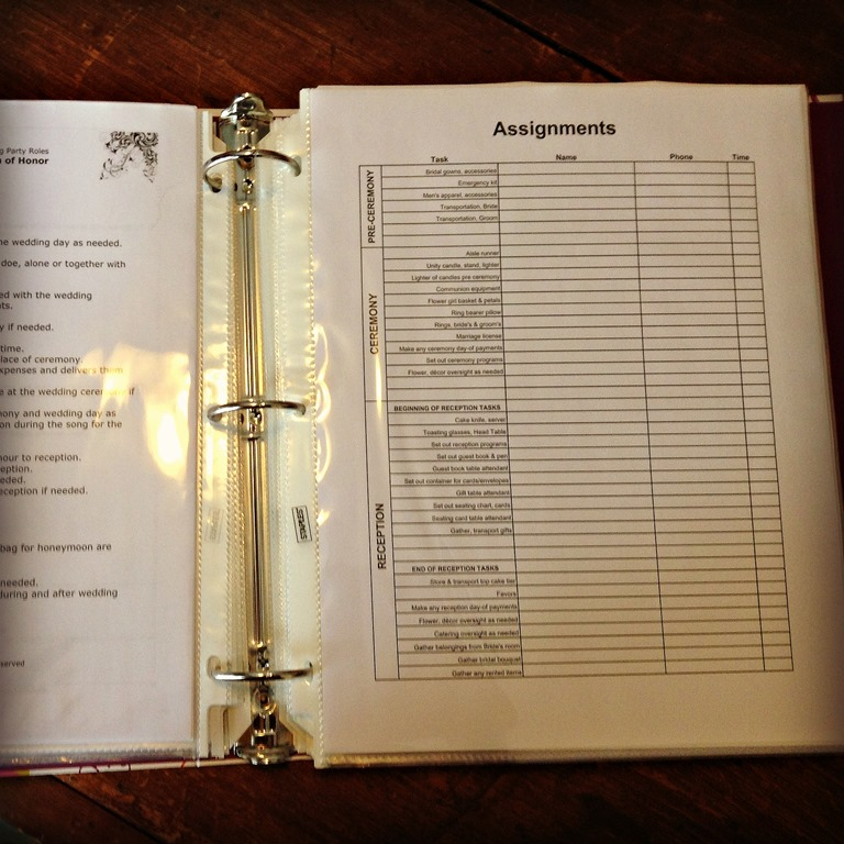How to make a wedding planning binder your easy step by step guide the best part of any wedding planning book be it the kind you make for yourself or the binders you can buy pre made which i was scared of buying because junglespirit Gallery