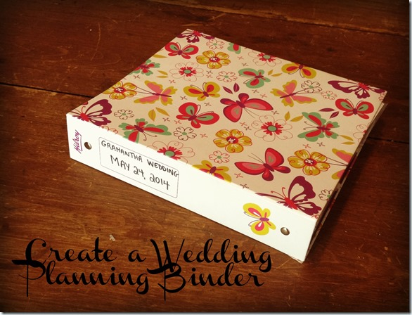 How to make a wedding planning binder your easy step by step wedding binder title pic solutioingenieria Image collections