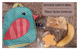 School Lunch Ideas: Making Friends Sandwiches