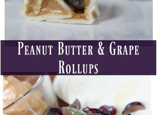 PB and Grape Rollups - check out the 12 Days of Back-to-School Lunches on GagenGirls.com