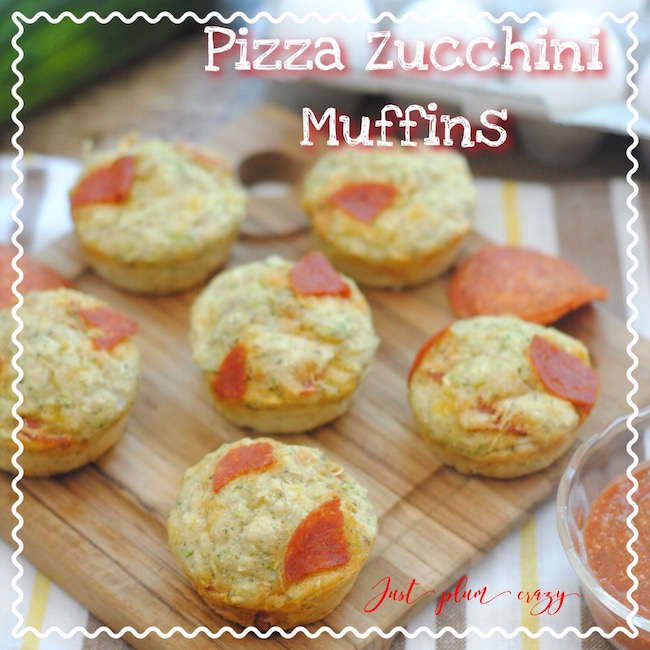 Pizza Zucchini Muffins, part of the 12 Days of School Lunches @GagenGirls.com