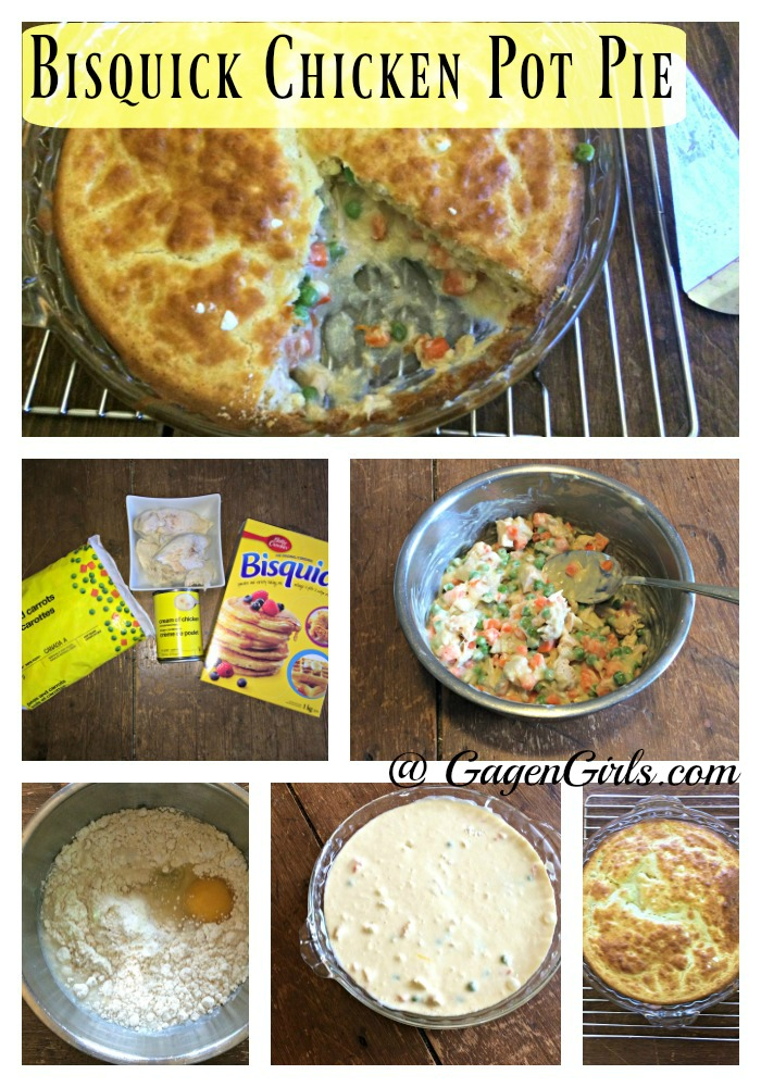 This Bisquick Chicken Pot Pie is a delicious and easy weeknight meal from GagenGirls.com