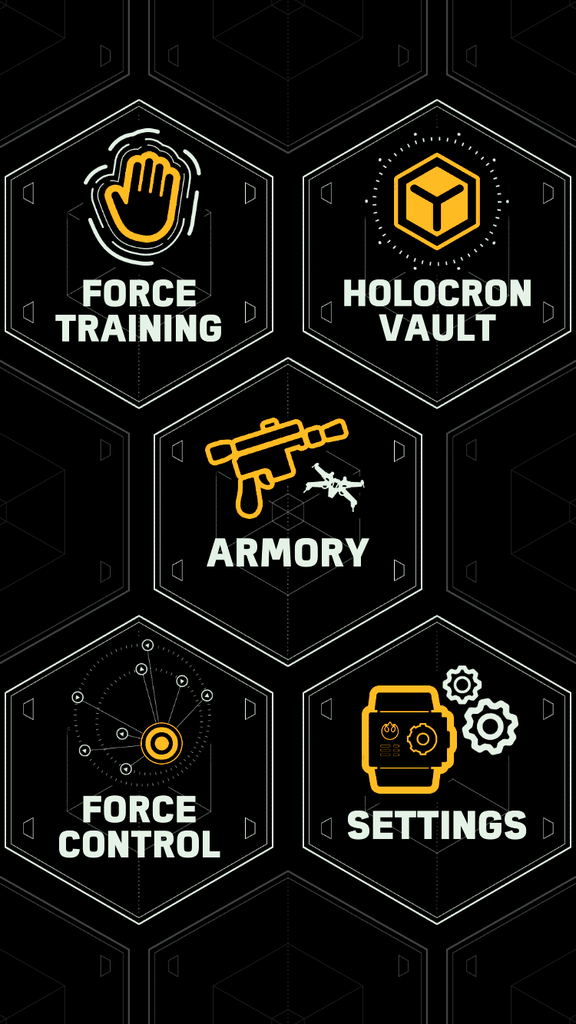 The menu for the Force Band app is super easy to use and shows all the cool features that can be access right there on your smart phone.
