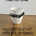 Hallowe'en Black Bat Earrings {12 Days of Hallowe'en}
