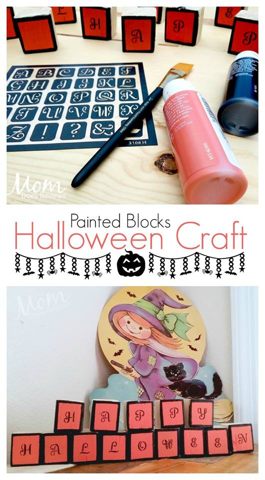 These Halloween Decorative Blocks are a great kids' craft! Find out about this and the rest of the #12DaysOf Halloween Recipes and Crafts @ GagenGirls.com