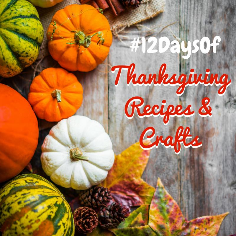We've teamed up with other bloggers to present the #12DaysOf Thanksgiving Recipes & Crafts @ GagenGirls.com