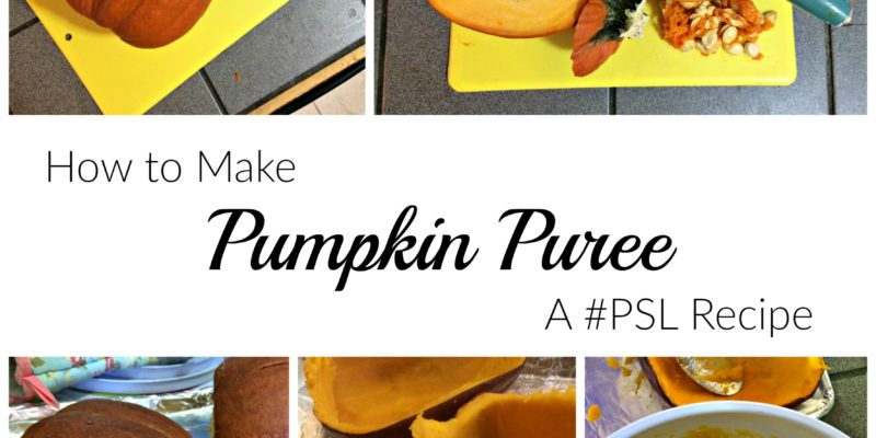 How to Make Pumpkin Puree: A #PSL Recipe from GagenGirls.com