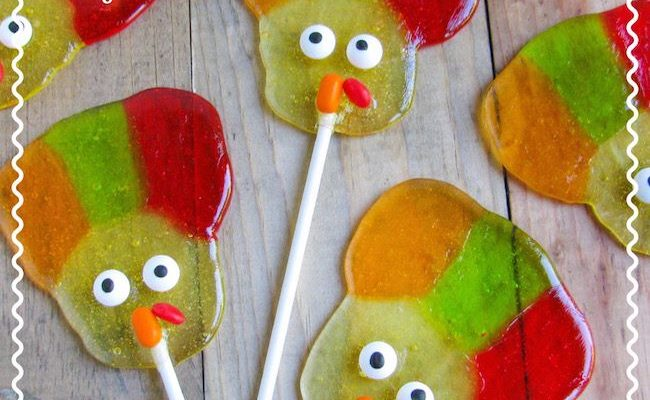 These Jolly Rancher Turkey Suckers are part of the #12DaysOf Thanksgiving at GagenGirls.com