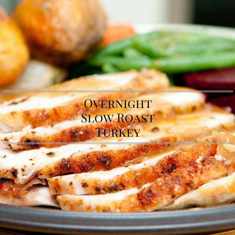 This Overnight Slow Roast Turkey is part of the #12DaysOf Thanksgiving at GagenGirls.com