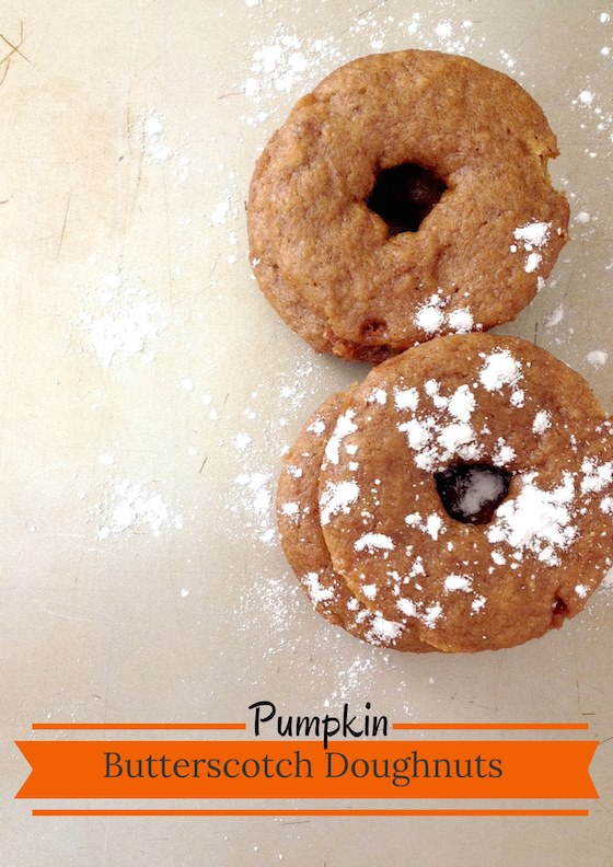 These delicious Pumpkin Butterscotch Doughnuts are part of the #12DaysOf Thanksgiving at GagenGirls.com
