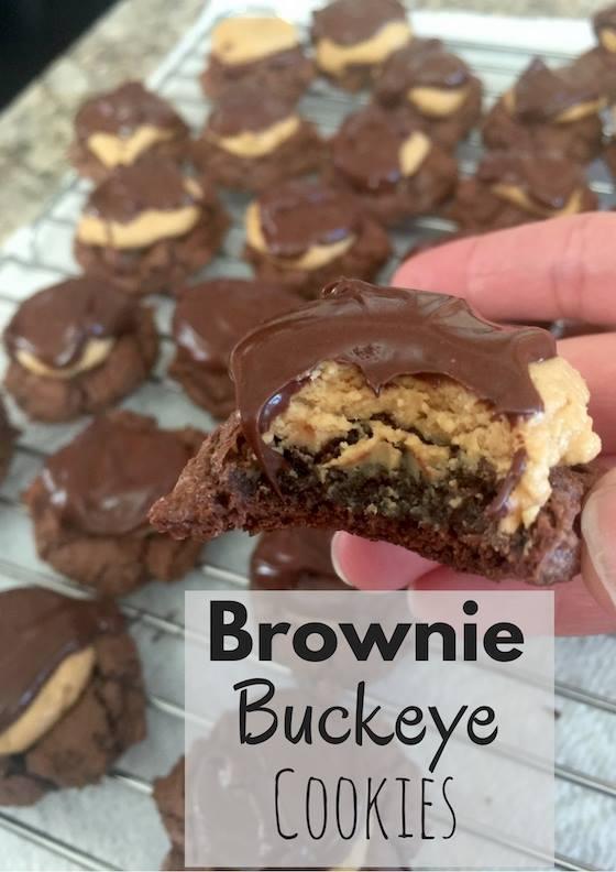 Brownie Buckeye Cookies, part of the #12DaysOf Christmas