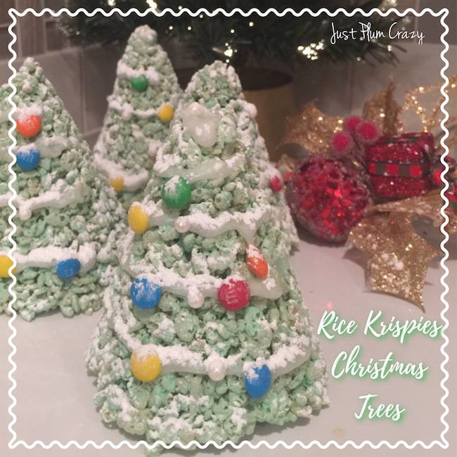 3-Ingredient Rice Krispies Christmas Trees, part of the #12DaysOf Christmas
