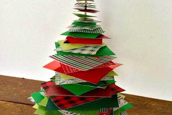 15-Minute Stacked Paper Christmas Tree, part of the #12DaysOf Christmas