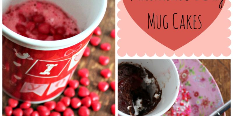 3-2-1 Weight Watchers Valentine's Day Mug Cakes