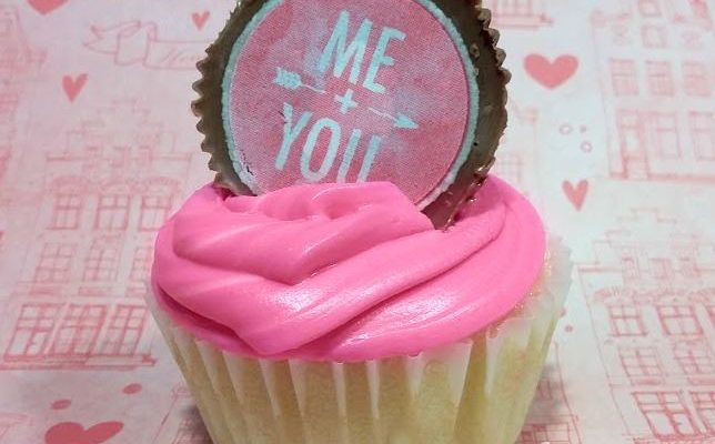 Sweetheart Peanut Butter Cup Cupcake Toppers