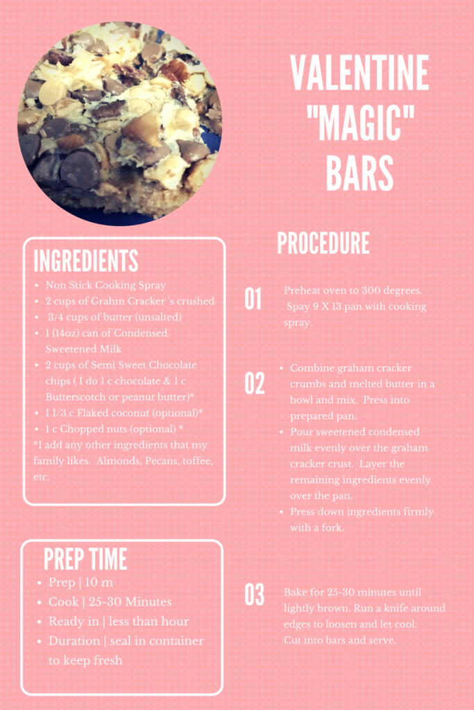 Valentine's Day Magic Bars