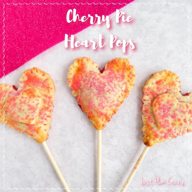 Cherry Pie Heart Pops - part of the 12 Days of Valentine's Day recipes and ideas!