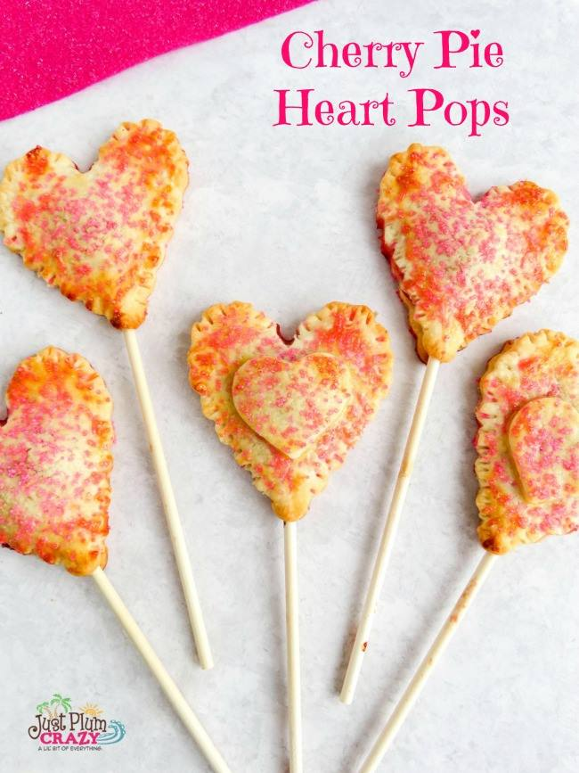 Cherry Pie Heart Pops - a delicious Valentine's treat for you and your sweetie.