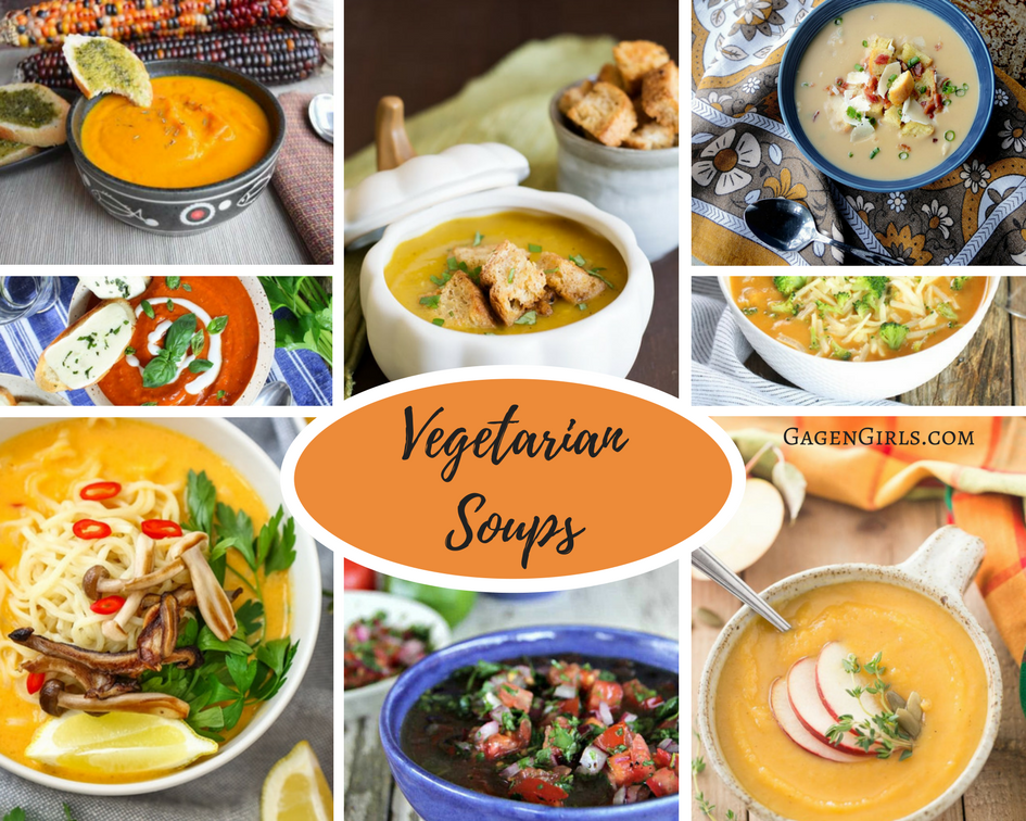 Delicious vegetarian and vegan soup recipes will fill your bellies and fill you with warm heartiness!