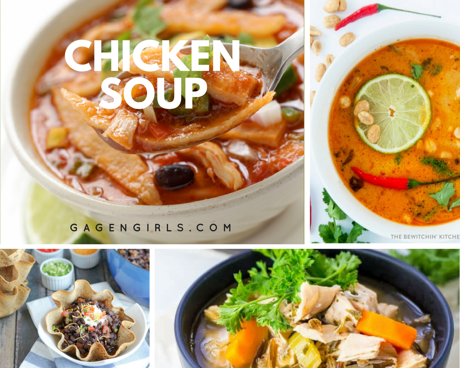 Chicken soup is a classic - here are some delicious recipes!