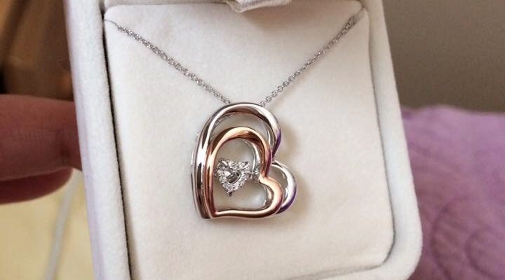 The beautiful necklace to represent our new family of three!