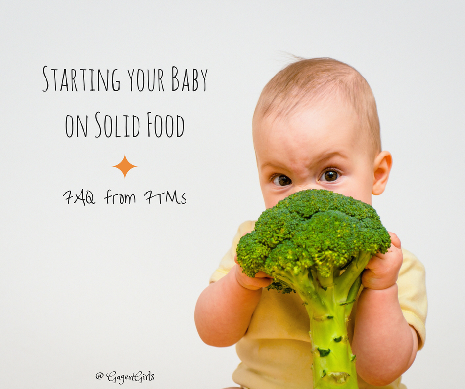 Weaning your baby onto solid food can be an exciting time full of new decisions - here's a guide to some frequently asked questions by first-time moms.