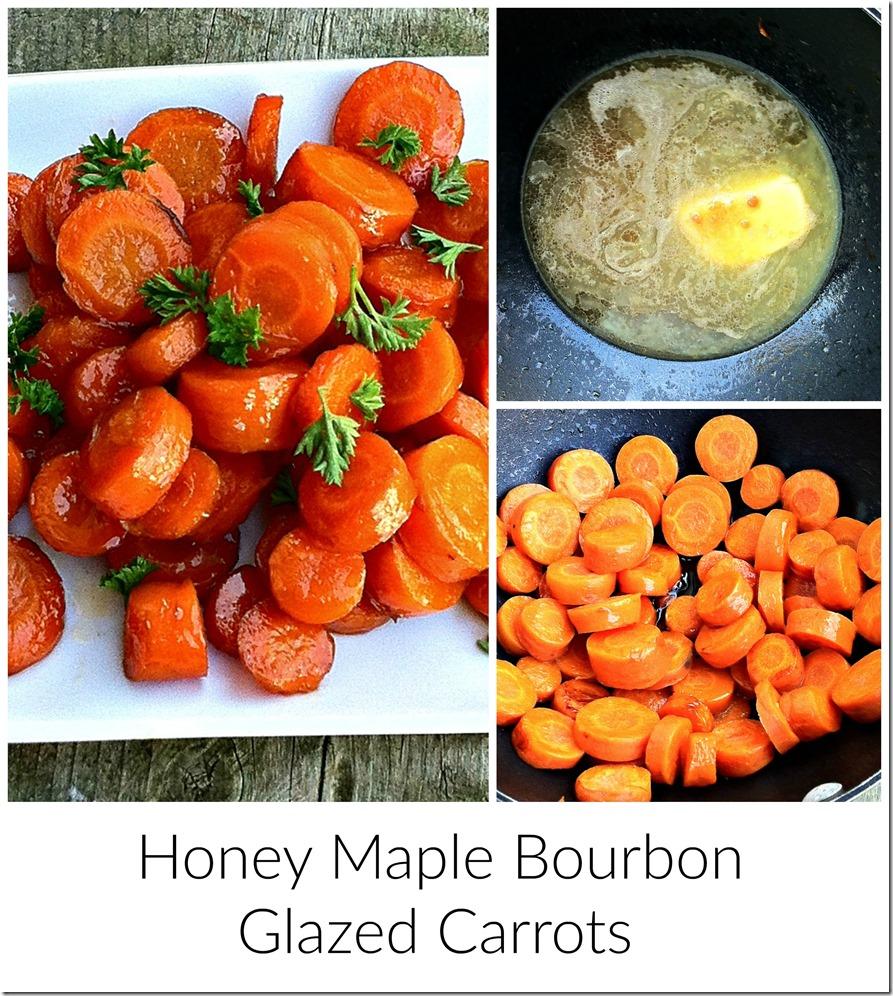 Honey Maple Bourbon Glazed Carrots
