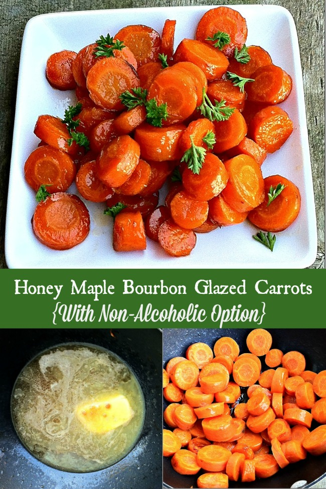 Delicious Honey Maple Bourbon Glazed Carrots for the Holidays
